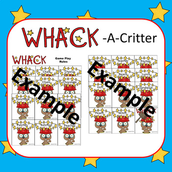 Wack-A-Critter /L/ Articulation Cards