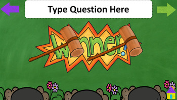 Game - template - wack-a-mole interactive PowerPoint