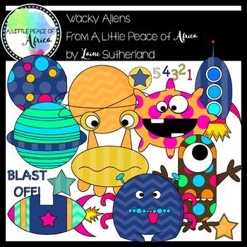 Wacky Aliens Clip Art Set