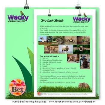 Wacky Animal Report