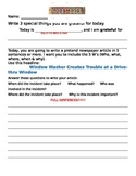 Wacky Article Journal Prompt 2