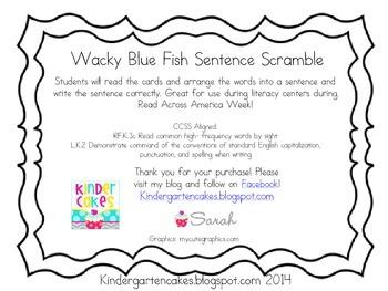 Wacky Blue Fish Sentence Scramble