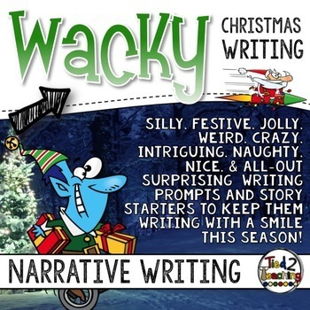 Christmas Narrative Writing - Holiday Task Cards - Standards Based Writing