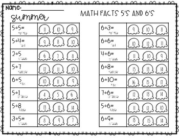 Wacky Color By Number (Summer) Addition and Subtraction