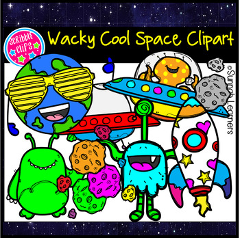 Wacky Cool Space Clipart