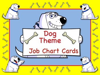 Wacky Dog Theme Job Chart Cards / Signs - Great for Classroom Management!!!