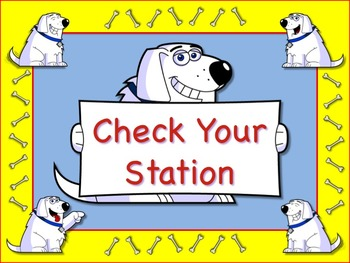 Wacky Dog Themed Station/Center Signs Great Classroom Management!