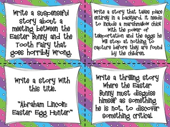 Spring Narrative Writing - Easter Writing Task Cards - Standards Based