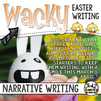 Wacky Easter Writing Prompt Task Cards