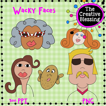 Wacky Faces People Clip Art