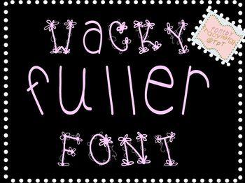 Wacky Fuller Font