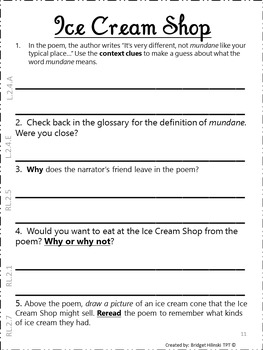 Wacky, Fun, and Definitely Silly Poetry Book {2nd Grade COMMON CORE}