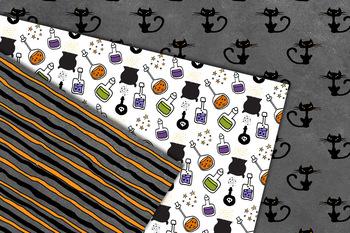 Wacky Halloween Digital Paper, seamless patterns