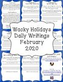 Wacky Holidays Daily Writing February