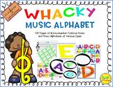 Wacky Music Alphabet Cards