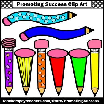 Wacky Pencils Clip Art, Writing Clip Art, Newsletter Clipart, SPS