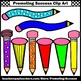 Wacky Pencil Clipart, Back to School Supplies Clip Art SPS