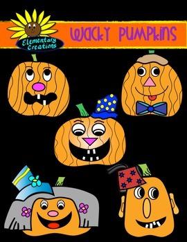 Wacky Halloween Pumpkins (Clipart)