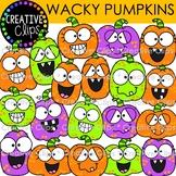 Wacky Pumpkin Clipart {Halloween Clipart}