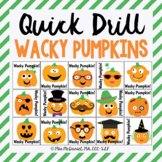Quick Drill Wacky Halloween Pumpkins {for speech therapy or any skill drill}
