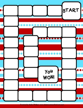 Wacky Red and Blue Game Boards