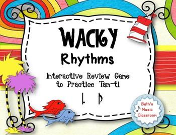 Wacky Rhythms - Interactive Review Game - Practice Tam-ti (Stick)