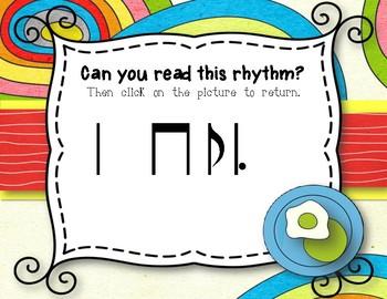 Wacky Rhythms - Interactive Review Game - Practice Ti-tam (Stick)