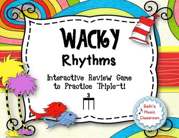 Wacky Rhythms - Interactive Review Game - Practice Triple-ti (Stick)