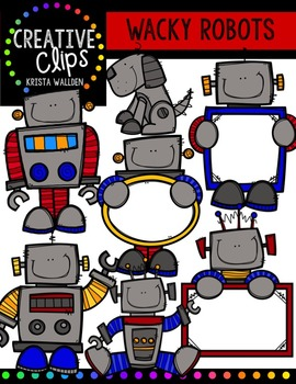 Wacky Robots {Creative Clips Digital Clipart}
