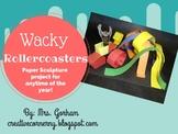 Wacky Rollercoasters Elementary Art Project