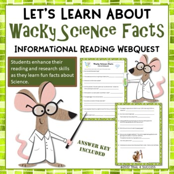 Wacky Science Fact Webquest - Fun Reading Internet Researc
