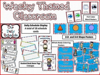 Wacky Themed Classroom Decor BUNDLE
