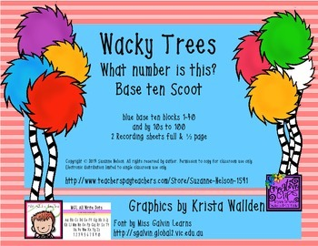 Wacky Trees What Number Is This? Base Ten Blue Scoot