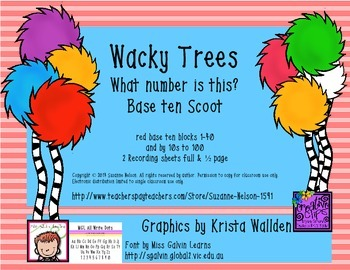 Wacky Trees What Number Is This? Base Ten Red Scoot