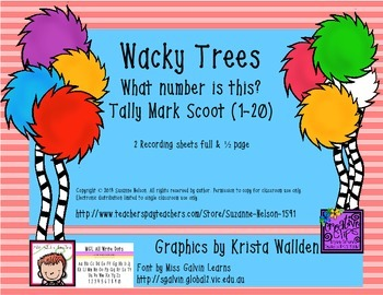 Wacky Trees What Number Is This? Tally Mark Scoot