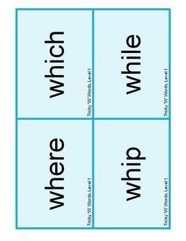 """Wacky """"W"""" Words (Level 1)"""