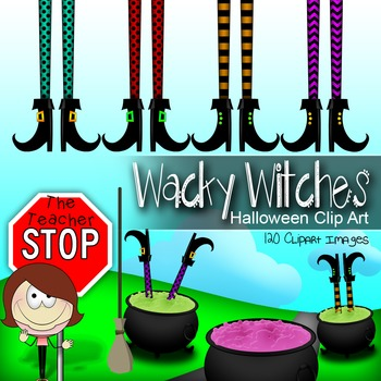 Wacky Witches Halloween Clipart - 120 Images Total {The Teacher Stop}