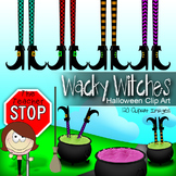 Wacky Witches Halloween Clip Art {The Teacher Stop}