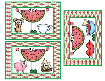 Wacky Watermelons                       A Rhyming Game and Activity