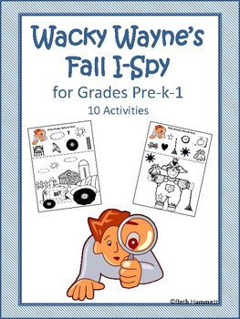 Wacky Wayne's Fall I-Spy for Grades Pre-k-1