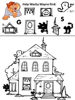 Wacky Wayne's Halloween I-Spy for Grades Pre-K-1