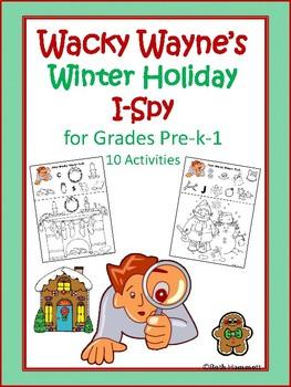 Wacky Wayne's Winter Holiday I-Spy for Grades Pre-k-1