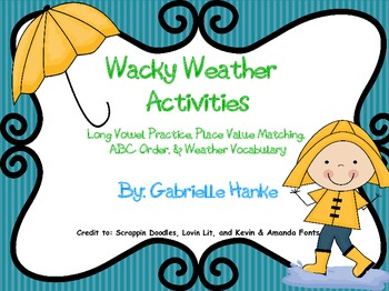 Wacky Weather Activities