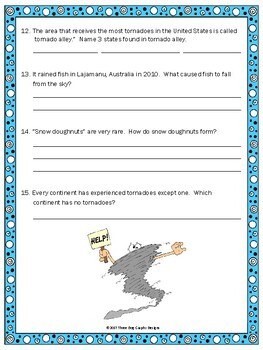 Wacky Weather Facts - Fun Webquest Reading Internet Research Activity