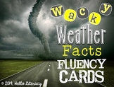 Fluency Task Cards {Wacky Weather Facts}