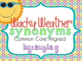 Wacky Weather Synonyms