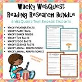Wacky Webquest Bundle - Set of 8 Engaging Research Activities No Prep