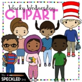 Read Across America Clipart. Elementary Students dressed up in Wacky Clothes