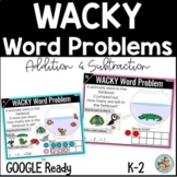Wacky Wednesday Math Addition and Subtraction Word Problem