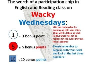 Wacky Wednesday Ticket